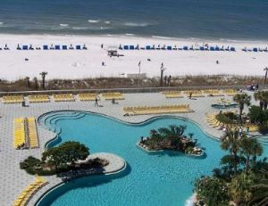 One of the beautiful pools at Panama City's popular Edgewater Resort.