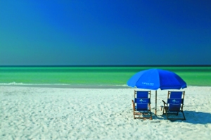 Sugar-white sands and emerald green waters in Grayton Beach - Beaches of South Walton