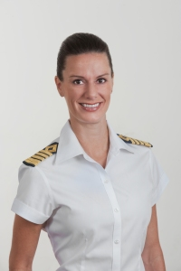Kate McCue - Celebrity Cruises first American female captain. Photo courtesy of Celebrity.