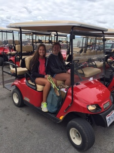 Golf carts are the way to get around on Kelleys Island.