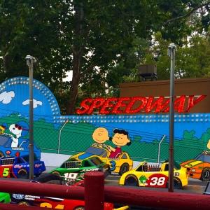 Snoopy-themed kids area at Cedar Point.