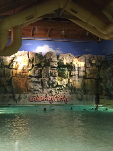 Indoor waterpark at Castaway Bay.