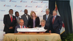 Official signing of the contract between Carnival Cruise Line and the Port of Mobile.