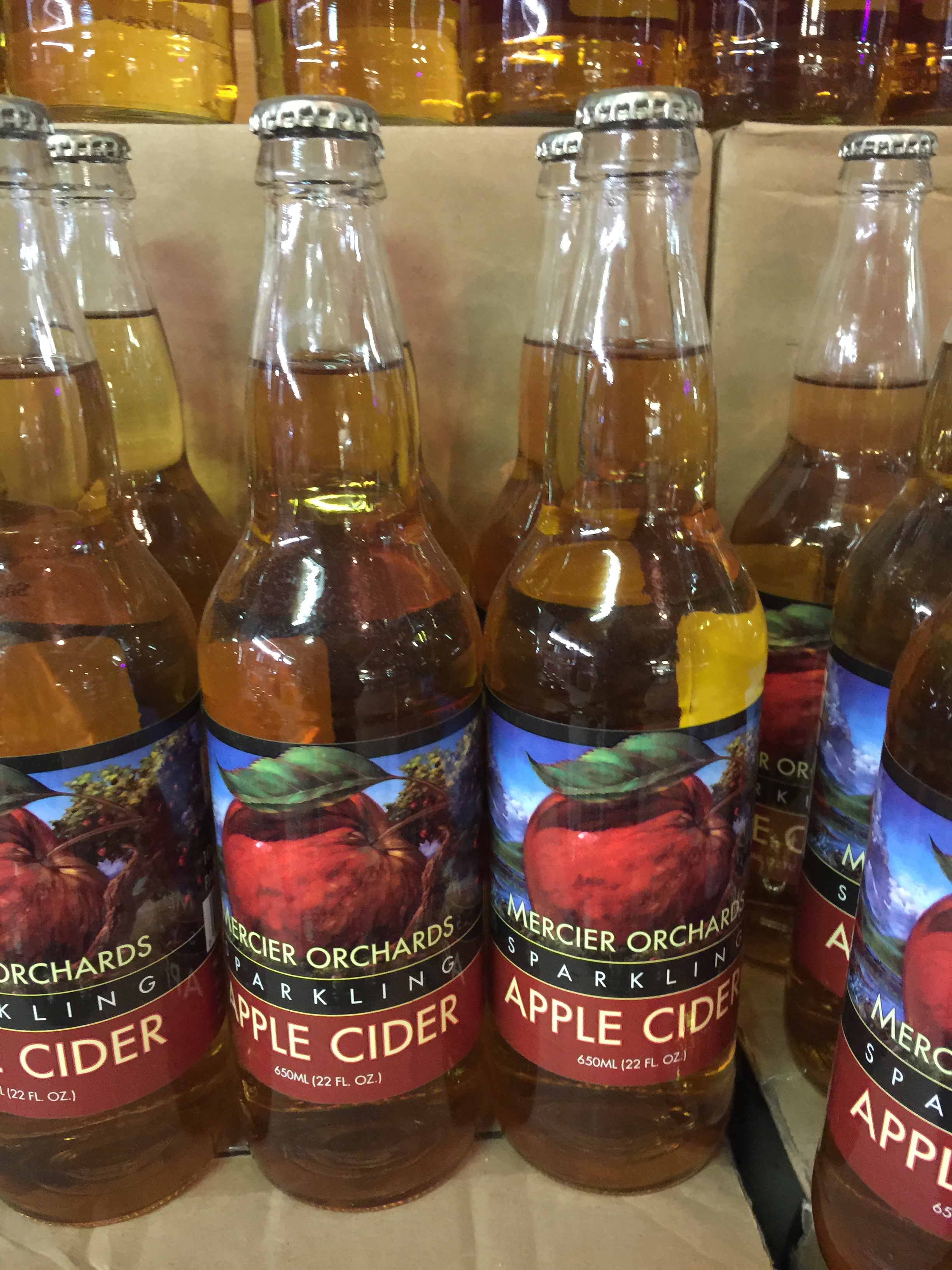 Sparkling Apple Cider - Mercier Orchards