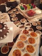 Dessert buffet at High Hampton Inn & Country Club in Cashiers, NC.